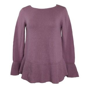 Style & Co Ruffle-Trimmed Pullover Sweater S NWT